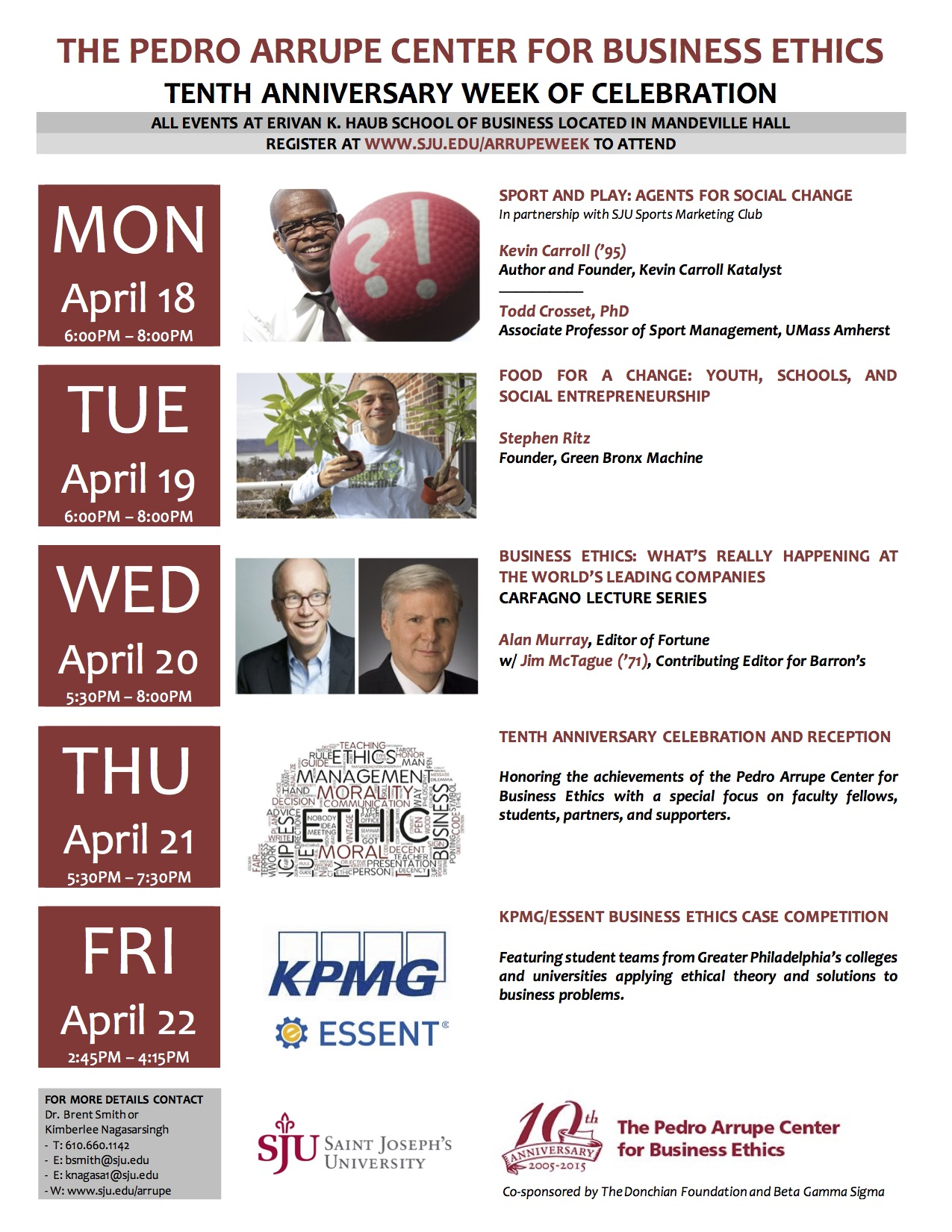 Arrupe Week of Events 2016