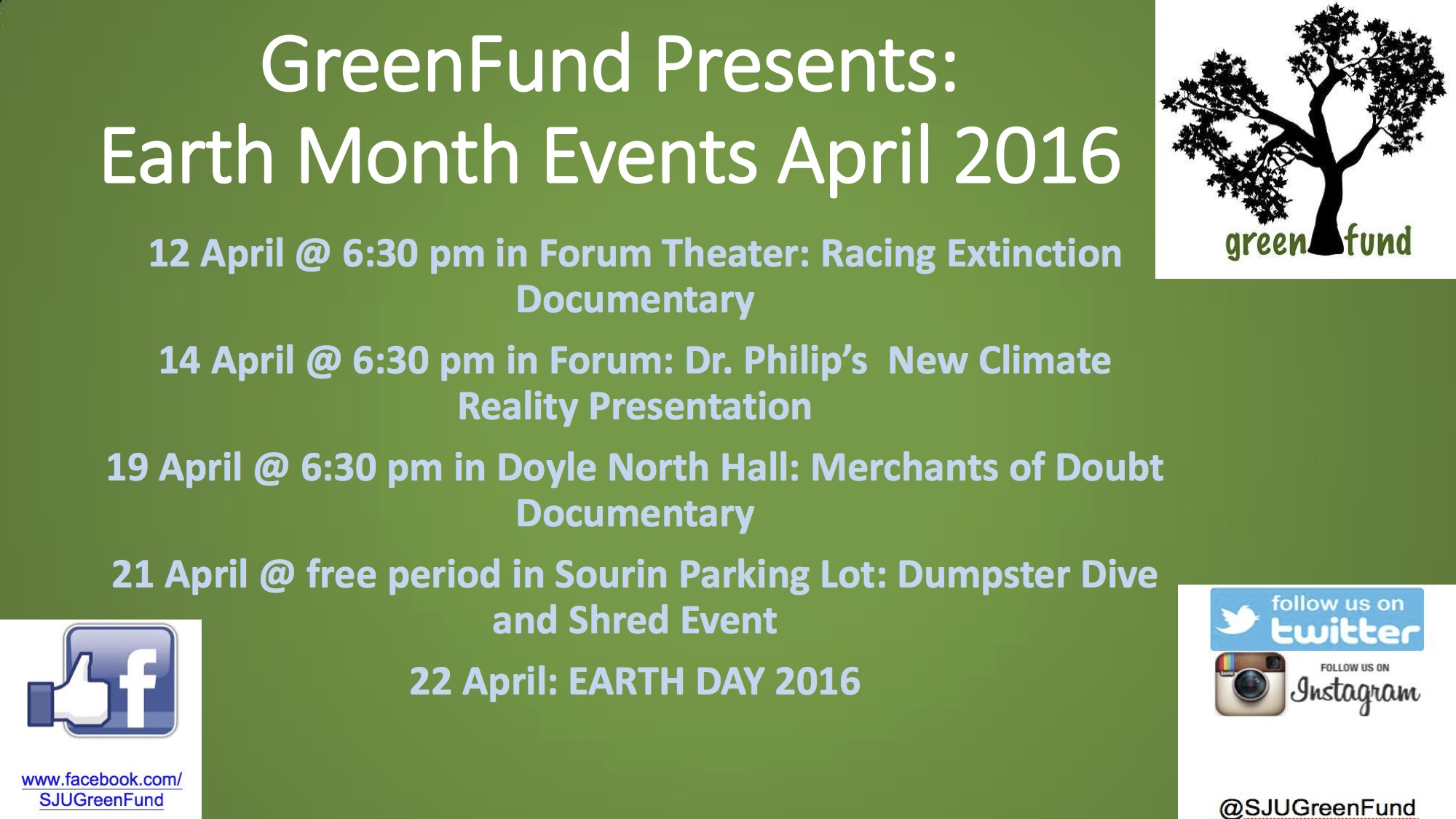 GreenFund Earth month