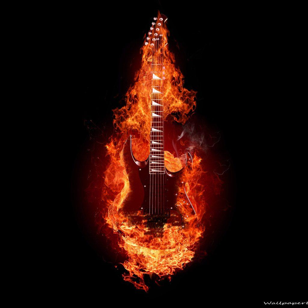 guitar wallpaper-freepspthemeswallpapers.blogspot.com-Black_Red_Guitar_On_Fire1 - Ian